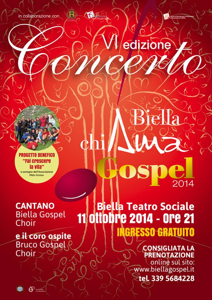 Locandina Biella ChiAma Gospel 2014